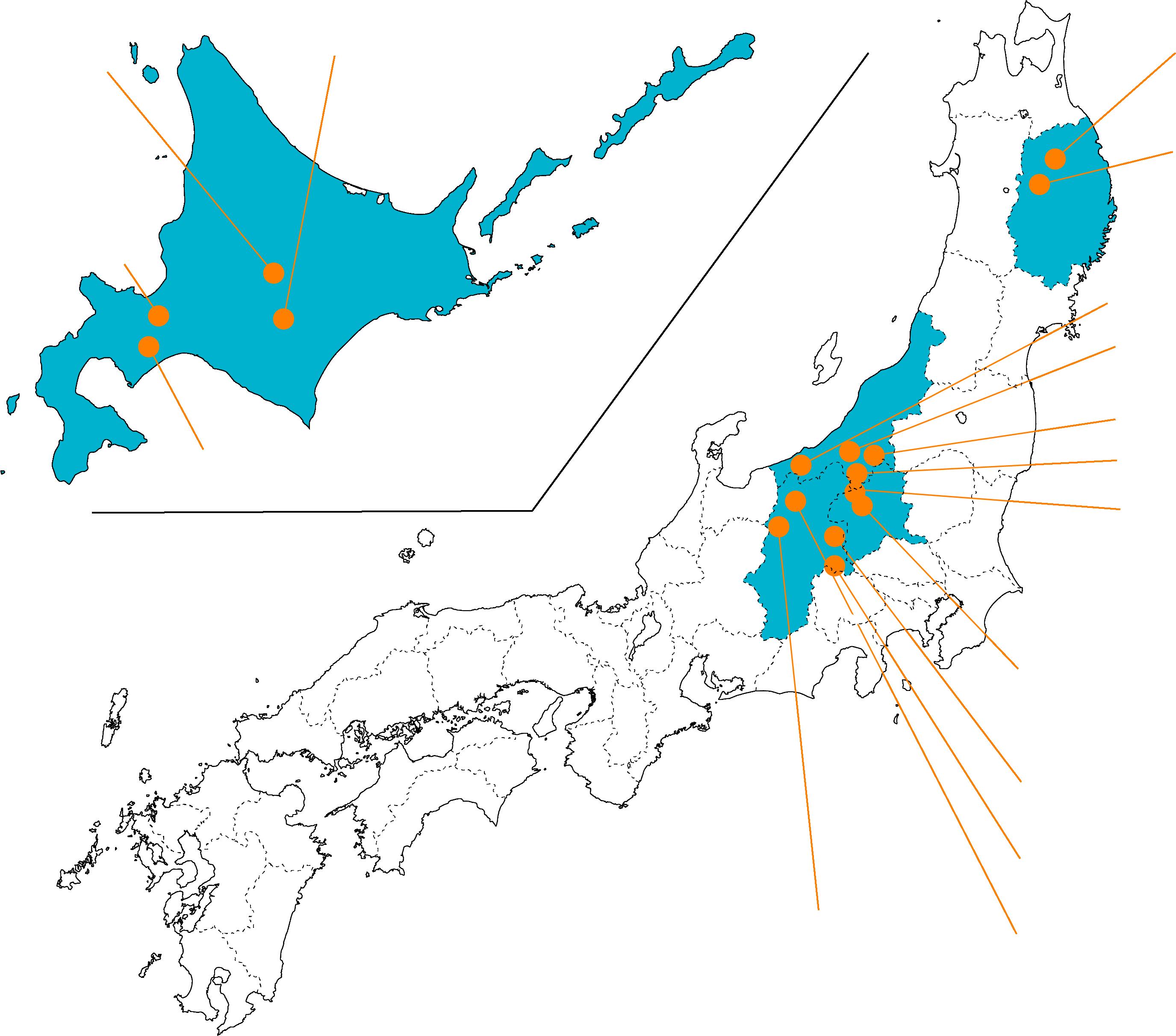 サロモンステーション 日本地図